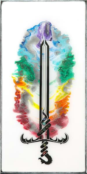 Chakra Sword (Glow In The Dark) Art | Breathe Art Paintings