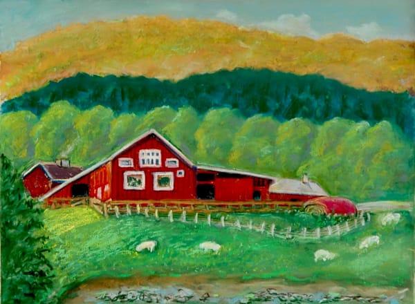 Norwegian Sheep Farm Art | Wild Ponies creations