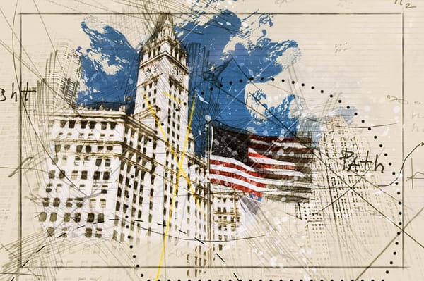 Wrigley And Flag/Merch Art | karenihirsch