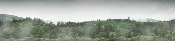Vermont Lake Mist Panorama Photography Art   Nathan Larson Photography