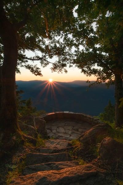 A Warm Sunrise Lights An Overlook Print