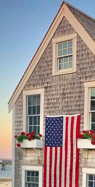 American Flag House   Provincetown, Ma Photography Art | The Colors of Chatham