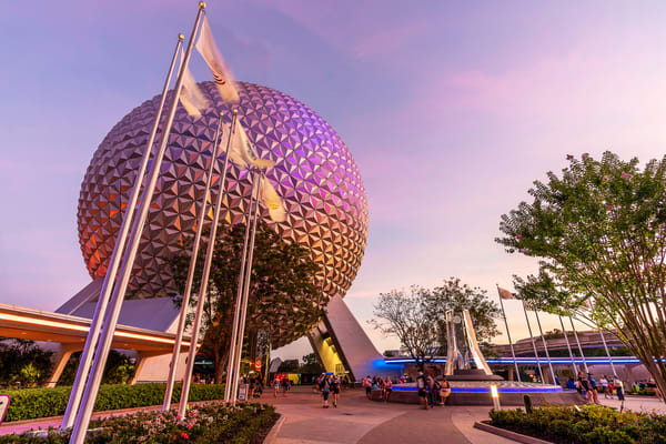 Spaceship Earth Evening Glow Photography Art | William Drew Photography