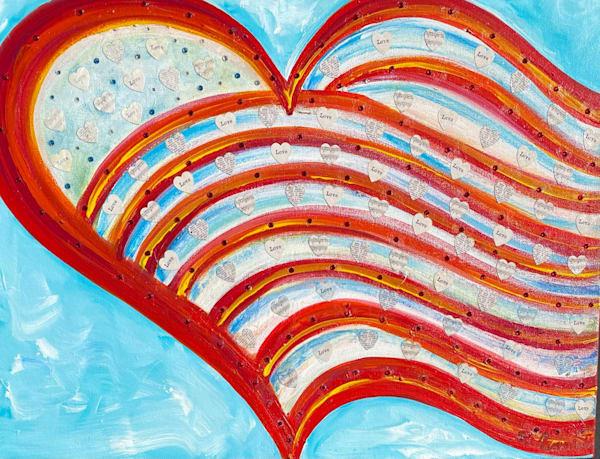 Brotherly Love Original Painting  Art   Heartworks Studio Inc