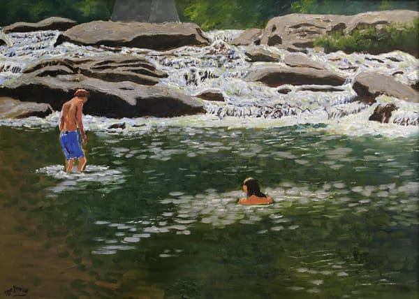 Swimmers At Audra Park Art | JoemcInroy