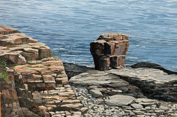Maine Rocks Art   Skip Marsh Art