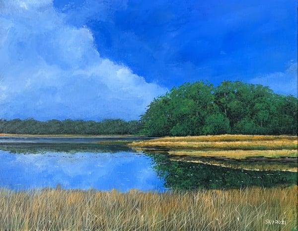 Blue Sky Marsh Art | Skip Marsh Art