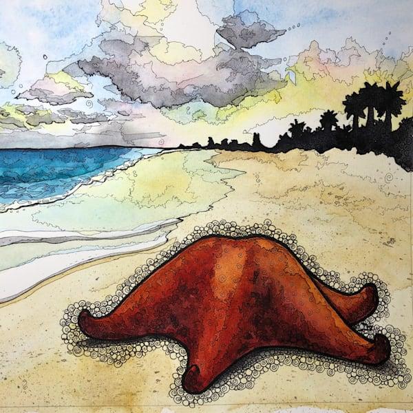 Bahama Sea Star Square Art | Water+Ink Studios