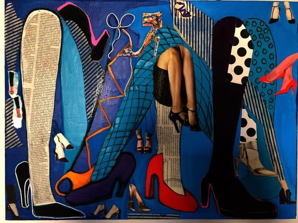 De Veuve Alexis  Got Shoes  Mixed Media And Collage 18 X 24 Art   MardisArt