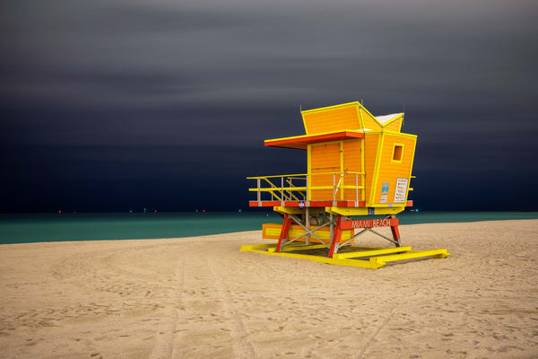 Life Guard Station 3rd Street 83 A2847 Miami Beach Fl Usa Photography Art | Clemens Vanderwerf Photography