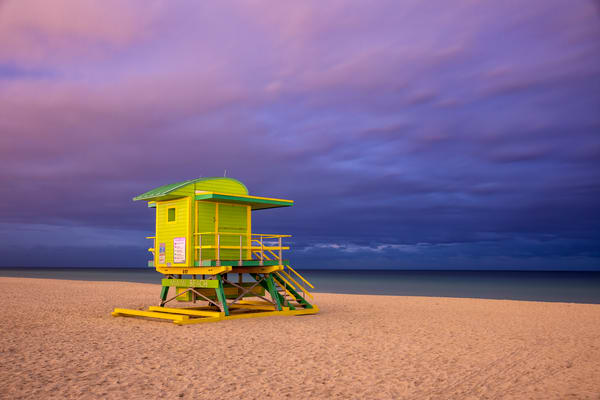Life Guard Station 6th Street 83 A3541 Miami Beach Fl Usa Photography Art | Clemens Vanderwerf Photography