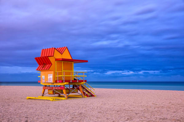 Life Guard Station 8th Street 83 A3543 Miami Beach Fl Usa Photography Art | Clemens Vanderwerf Photography