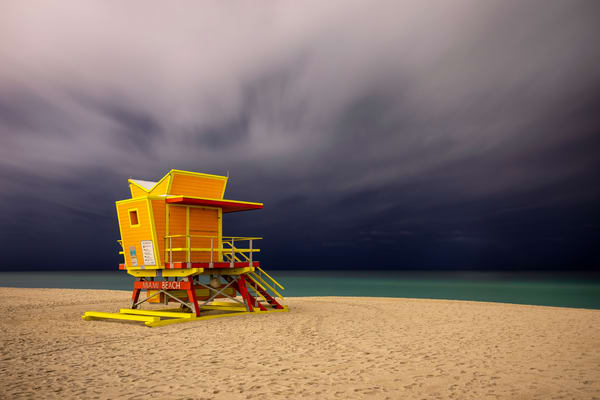 Life Guard Station 3rd Street 83 A2849 Miami Beach Fl Usa Photography Art | Clemens Vanderwerf Photography