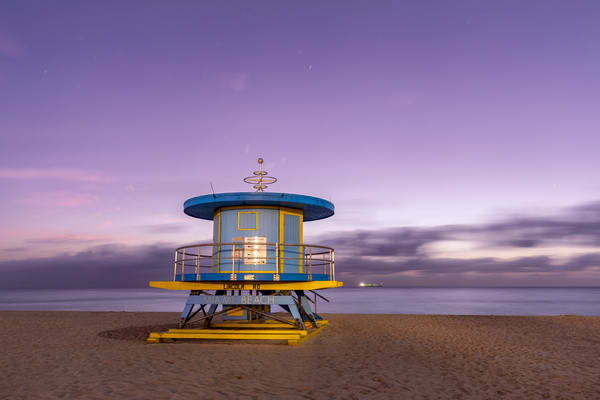 Life Guard Station Lincoln Road 83 A3773 Miami Beach Fl Usa Photography Art | Clemens Vanderwerf Photography