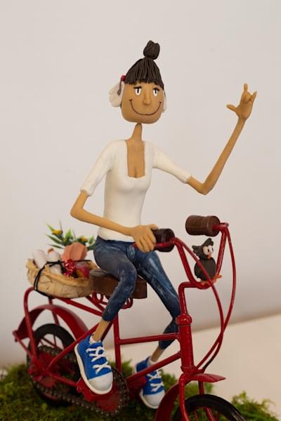 Deafny Rides A Bike Art | Priscila Soares - MyLuckyEars