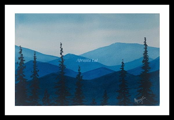 """""""Hills and Hues - 3"""" in Watercolors by Aprajita Lal (Original 5.5x7.5)"""