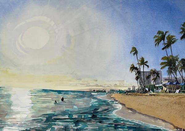Koa Oasis Sunset | At Hotel Vandivort Art | the | danfinnell | studio