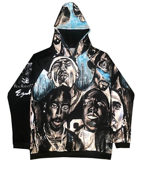 Legends Of Hip Hop Hoodie | Blac Rhino Art Group