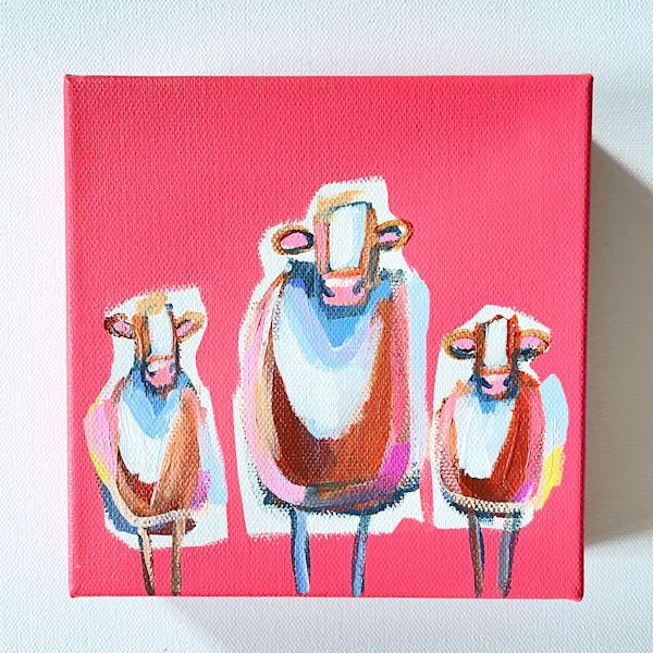 Mini Cows We Three | Lesli DeVito