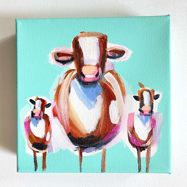 Mini Cows Party Of Three | Lesli DeVito