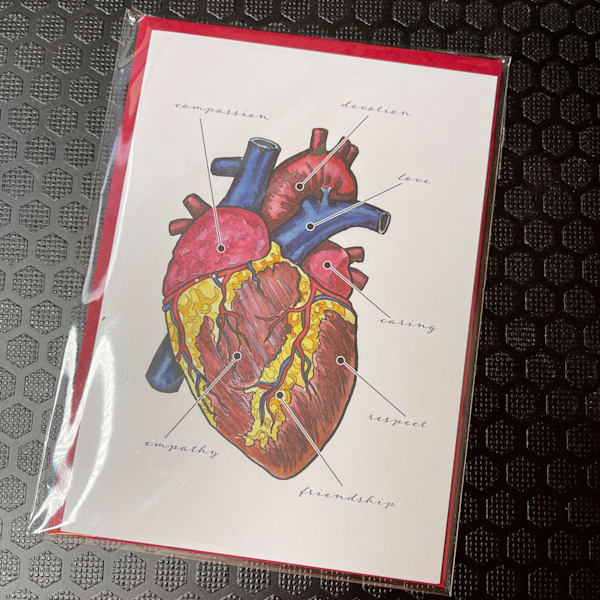 Anatomy Of The Heart Greeting Card | Water+Ink Studios