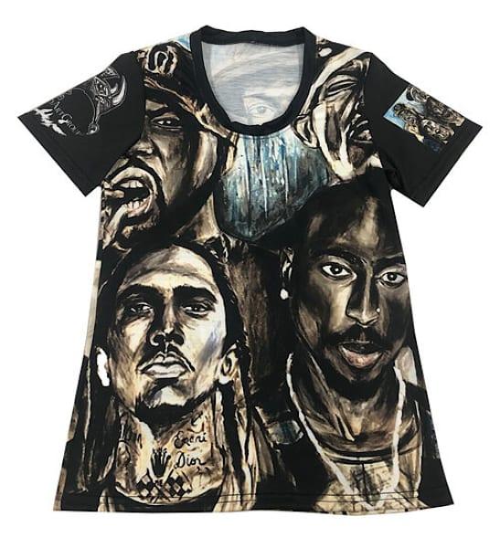 Hip Hop Legends T Shirt Women's  | Blac Rhino Art Group