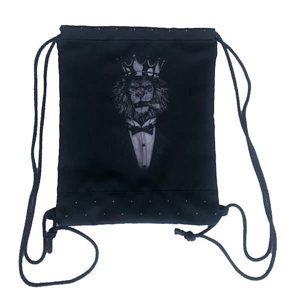 Lion Drawstring Bag | Blac Rhino Art Group