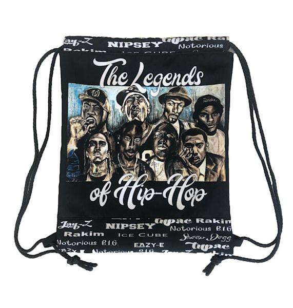 Hip Hop Legends Drawstring Bag  | Blac Rhino Art Group