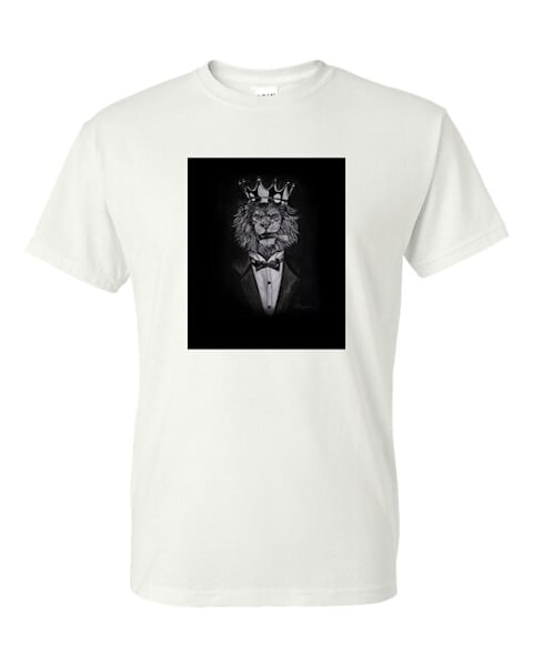 Lion T Shirt Cotton Feel  | Blac Rhino Art Group