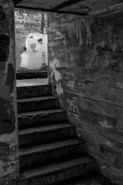 DP690 Fort Worden stair case b&w