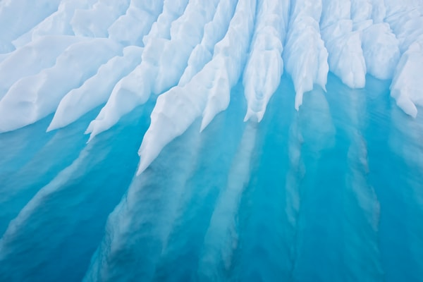 Iceberg Sculpture With Underwater Lines S6 A9571 Paradise Bay Antarctica Photography Art | Clemens Vanderwerf Photography