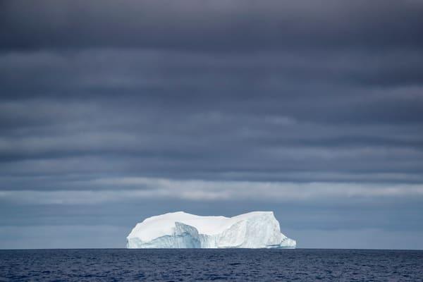 Iceberg Under Dark Skies A3 I3802 Gerlache Strait Antarctica Photography Art | Clemens Vanderwerf Photography