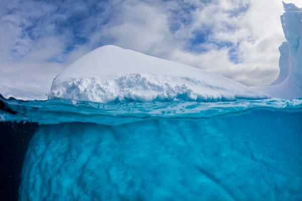 Iceberg With Underwater View Mg 9496 Lemaire Channel Gerlache Strait Antarctica Photography Art | Clemens Vanderwerf Photography