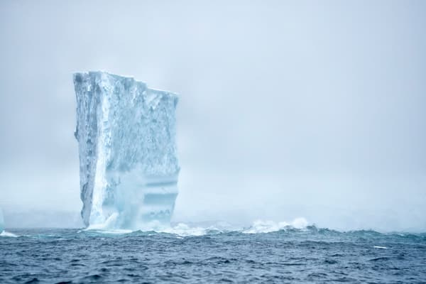 Iceberg In The Mist A3 I0274 Anver Island Antarctica Photography Art | Clemens Vanderwerf Photography