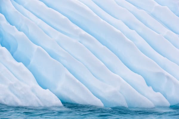 Iceberg Detail Abstract With Diagonal Lines E7 T1201 Cuverville Island Antarctica Photography Art | Clemens Vanderwerf Photography