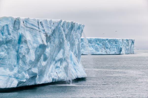 Ice Sheet Cap With Melt Water Streams E7 T3639 Brasvellbreen Svalbard Arctic Photography Art | Clemens Vanderwerf Photography