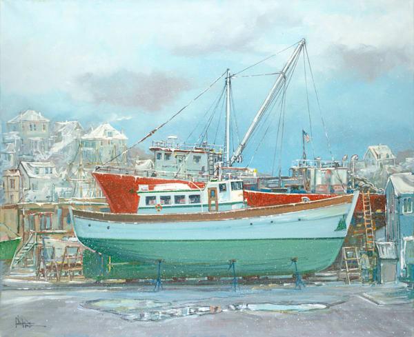 The Arvour Winter Roses Wharf 30x36