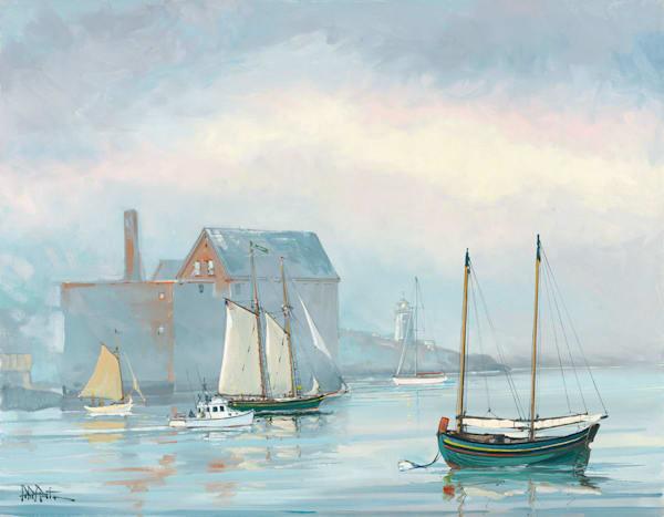 Inner Harbor On a Foggy Morning 22x28