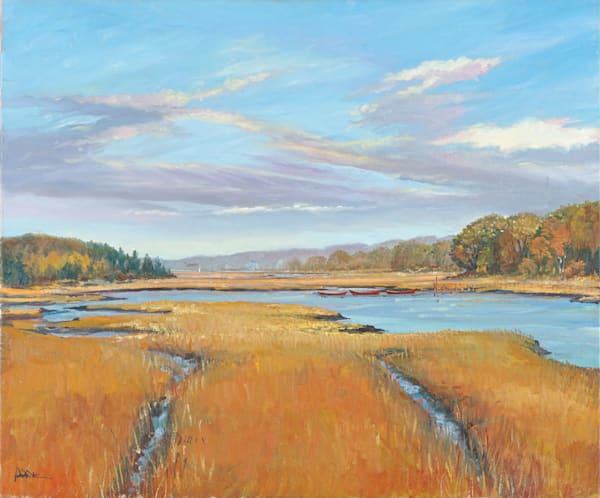Jones Creek In Early Fall 30x36