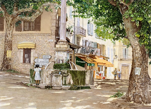 A Rest In The Shade, Bargemon, France  1994 Art | Fine Art New Mexico