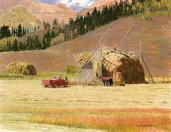Haystacks In Wyoming Art | Fine Art New Mexico