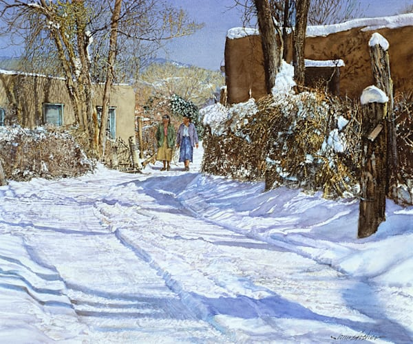 Winter Morning, Martinez Lane Art | Fine Art New Mexico