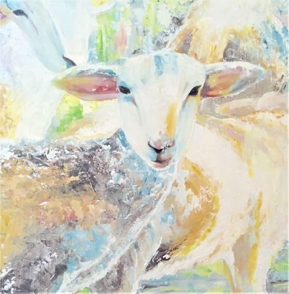 Freckled lamb, farmhouse art, lamb print