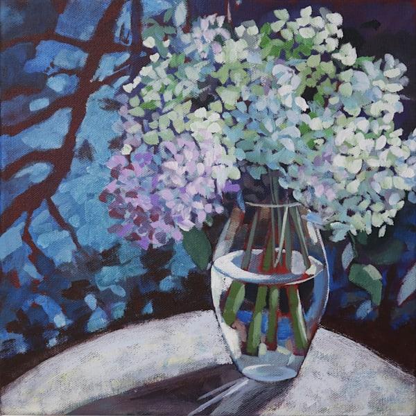 Moonlit Hydrangeas   Sue Riger Studio