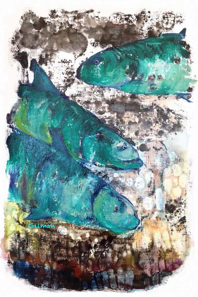 3 Fish   Coasters Art | Emily Gilman Beezley LLC