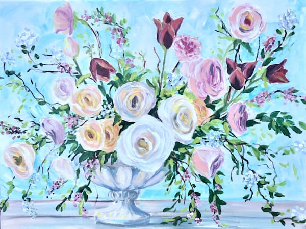 botanical art a dance of light pastel tones of blooms and wildflowers