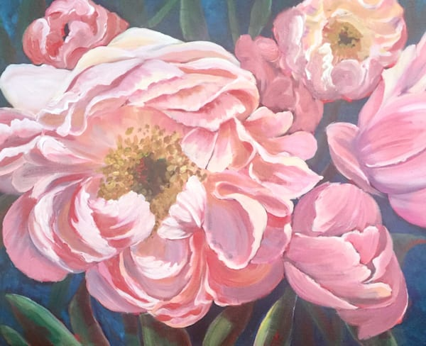 peony dreams painting flower art print by sophie dare