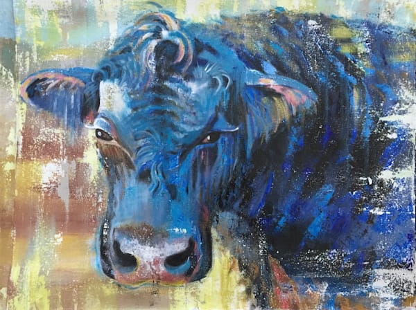 Blue the Bull referenced at a family farm in NC. With tones of indigo, add the rich history of farm owners and cattle