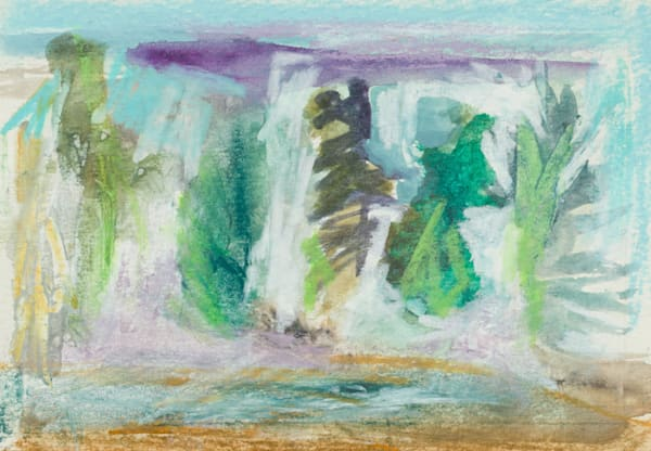 Abstract Pine Tree Forest Canvas Brush Creek Foundation For The Arts.
