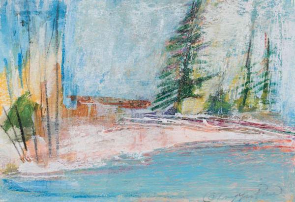 Pine Tree Winter Landscape Wall Art Brush Creek Foundation For The Arts.